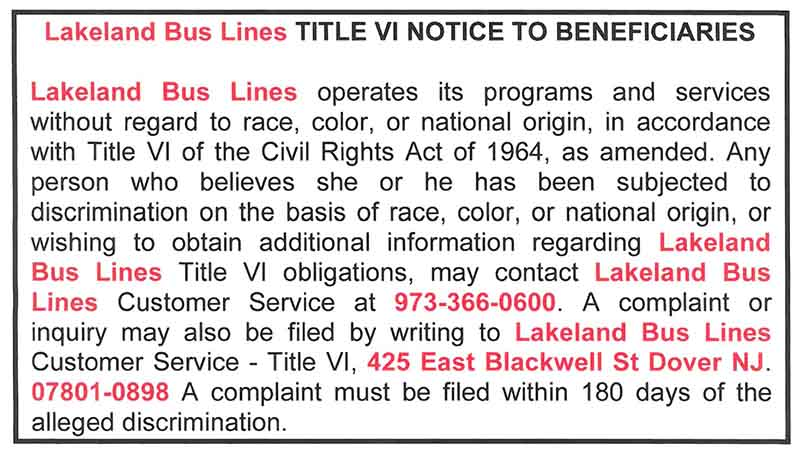 lakeland bus notice